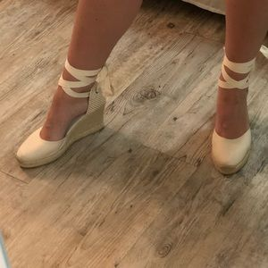 Soludos Lace Up Espadrilles Wedges